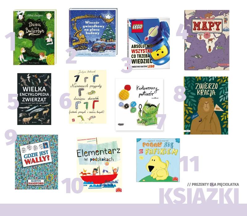 Prezenty dla pięciolatka - książki