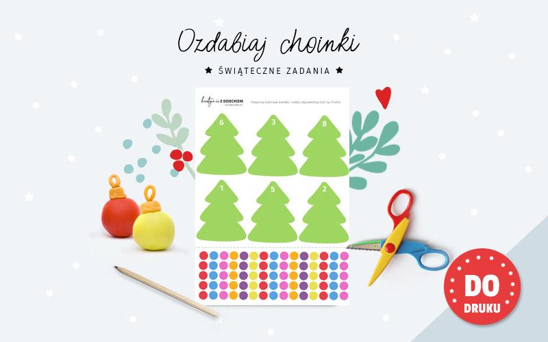 Świąteczne karty pracy - Choinki