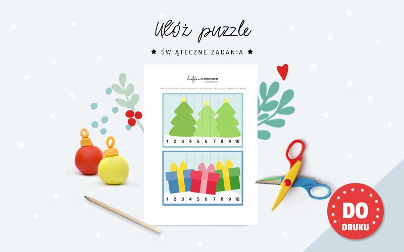 Świąteczne karty pracy - puzzle