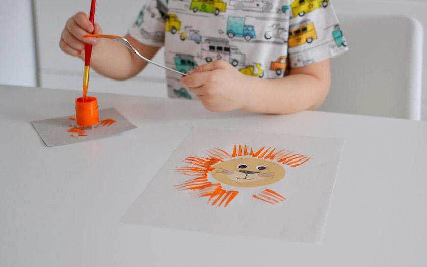 Malowanie farbami dla dzieci