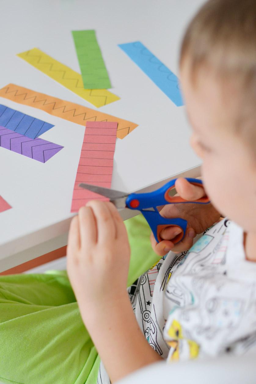 Nauka wycinania dla dzieci - szablony do druku