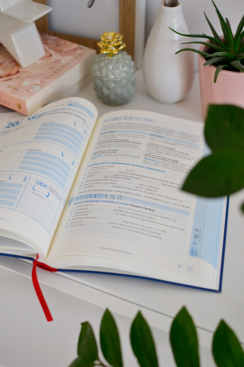 Planer językowy Czas na angielski - recenzja i zdjęcia