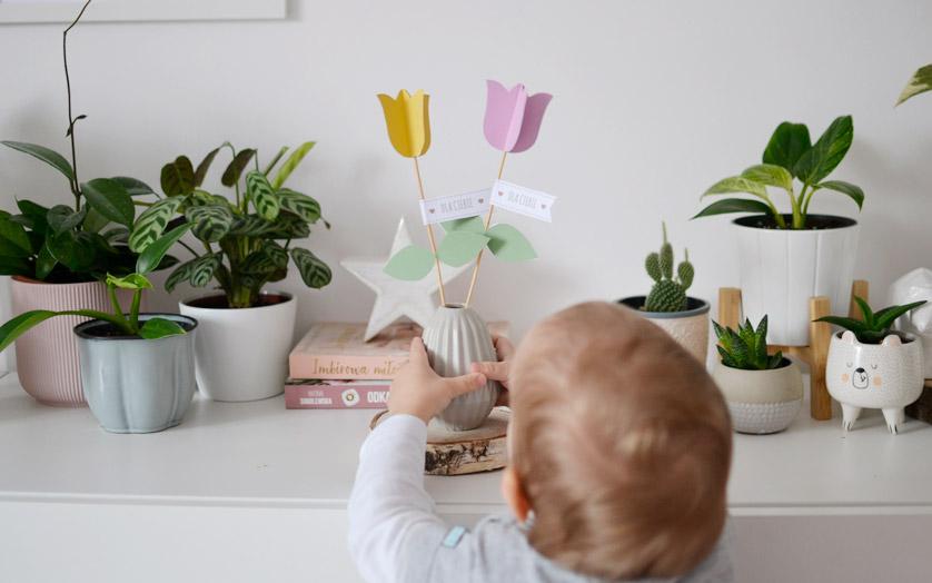 Kwiaty z papieru - papierowe tulipany na Dzień Kobiet