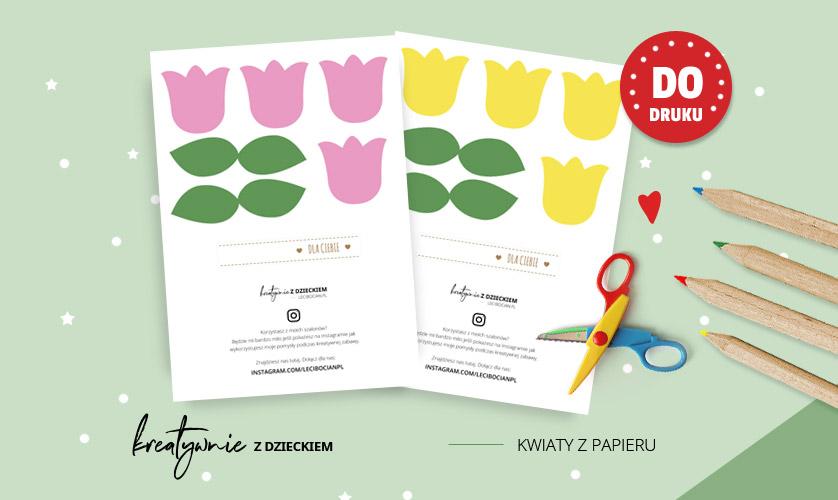 Kwiaty z papieru - Papierowy kwiaty szablon do druku
