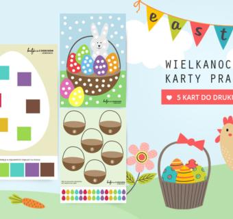 Wielkanocne karty pracy do druku – 5 zabaw dla dzieci
