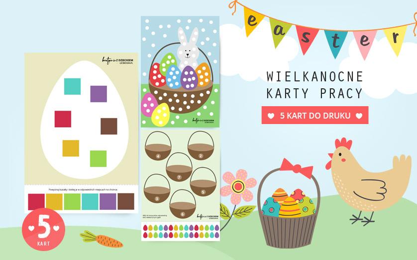 Wielkanocne karty pracy do druku - 5 zabaw dla dzieci