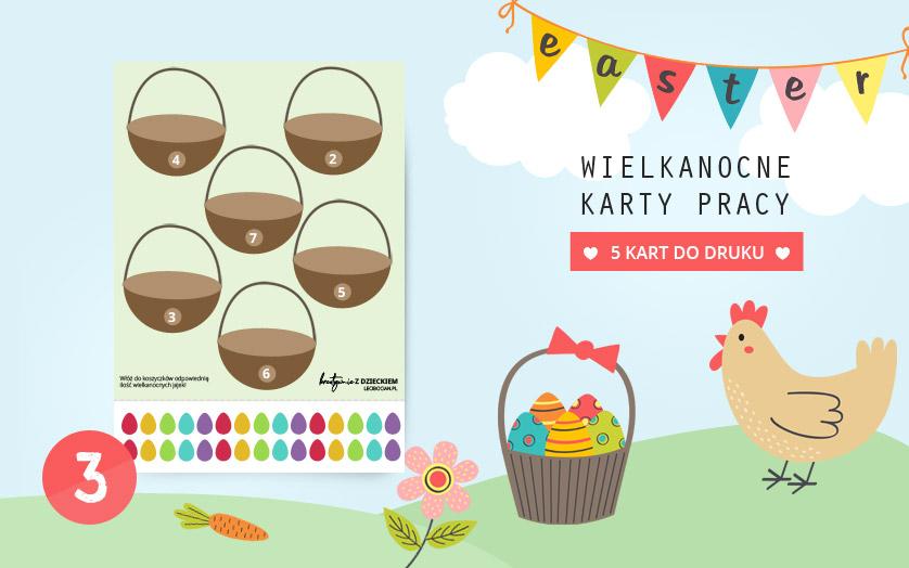 Wielkanocne karty pracy - Policz jajka
