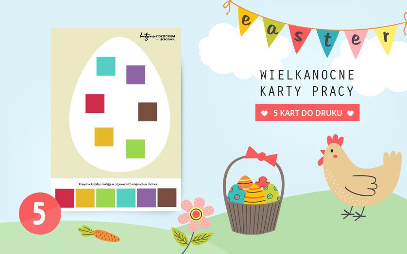 Wielkanocne karty pracy - Dopasuj kolory