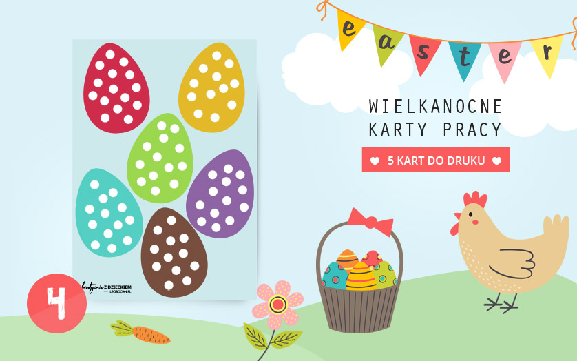 Wielkanocne karty pracy - Wyklejanka jajka