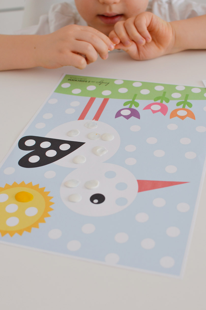 Wiosenne wyklejanki dla dzieci do druku