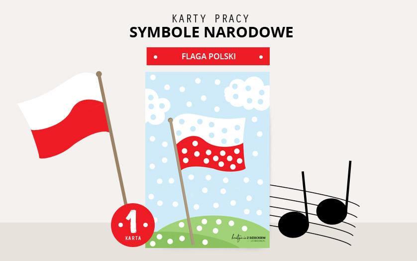 Karty pracy Symbole Narodowe - Flaga Polski