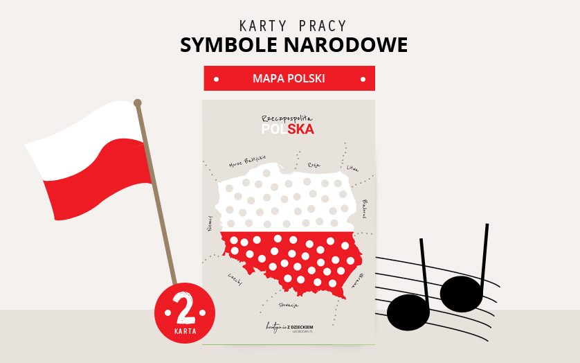 Karty pracy Symbole Narodowe - Mapa Polski