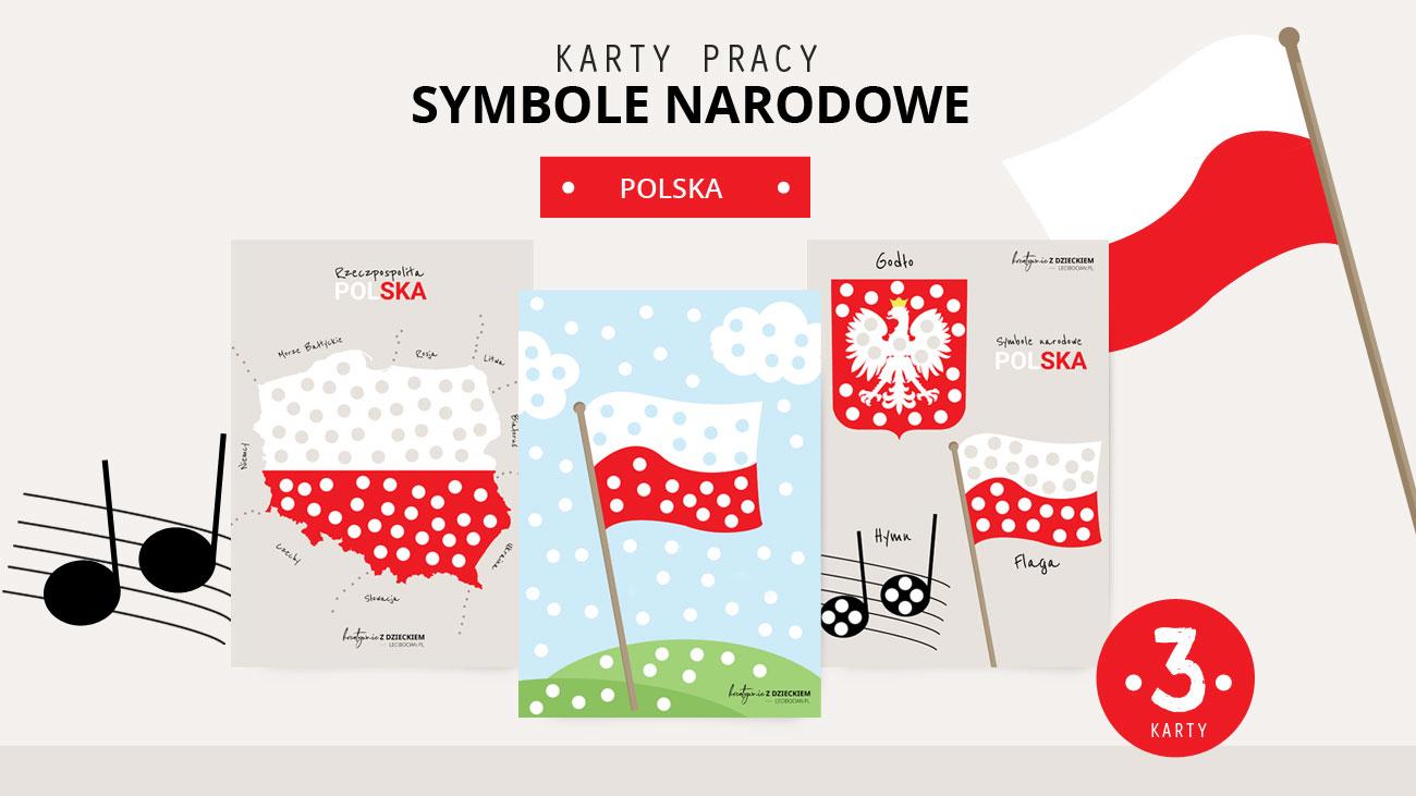 Symbole narodowe Nasza ojczyzna karty pracy od druku