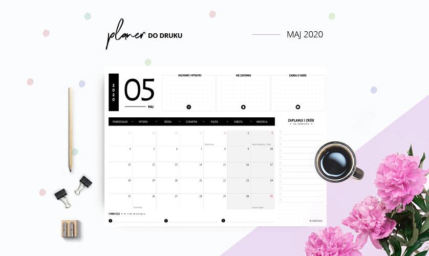 Planer maj 2020 w kolorze czarnym