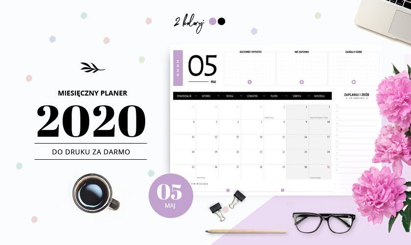 Planer maj 2020 - do druku za darmo