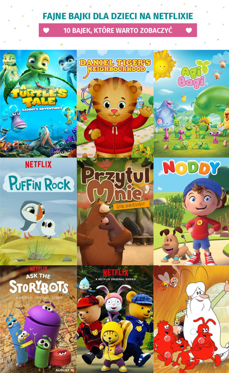 Fajne bajki dla dzieci na Netflixie
