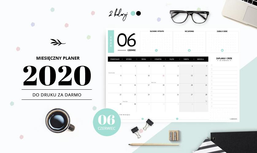 Planer czerwiec 2020 - do druku za darmo
