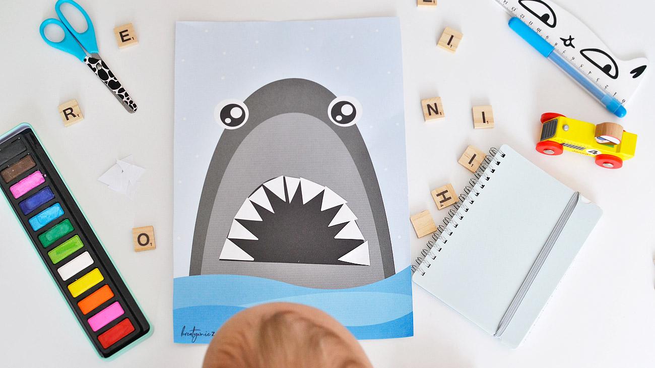 Zęby rekina - Letnie prace plastyczne dla dzieci