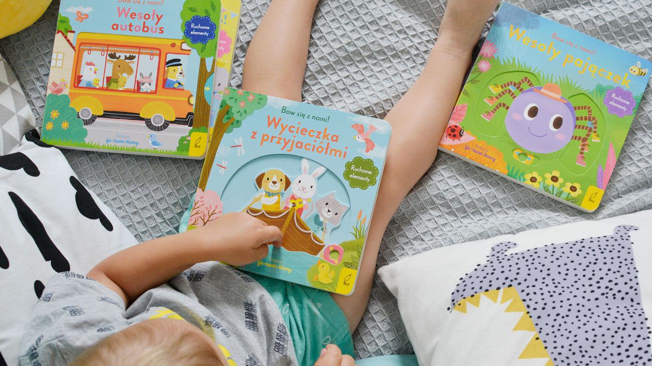 Kartonowe książki dla dzieci z ruchomymi elementami - Seria Baw się z nami