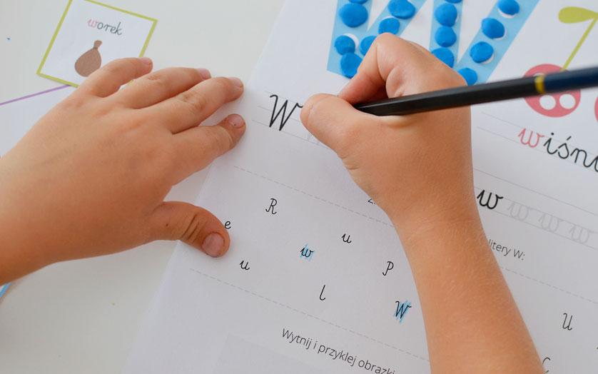 Karty pracy do nauki liter