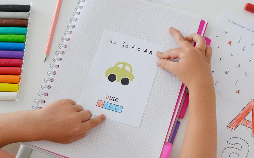 Wklejki z alfabetem - do druku