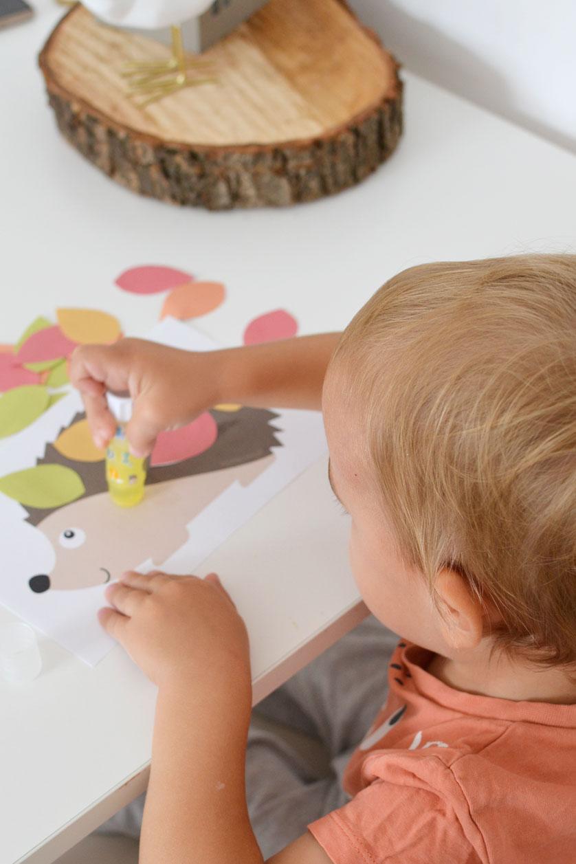 Jesienne prace plastyczne dla dzieci - Jeż