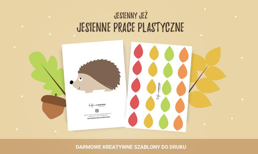 Jesienna praca plastyczna z jeżem