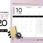 Planer październik 2020 - do druku za darmo