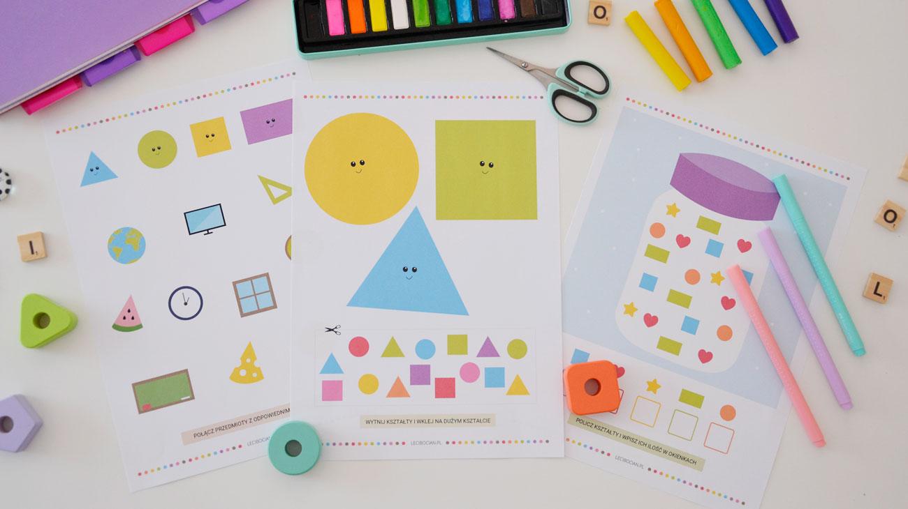 Karty pracy kształty - 25 kart pracy z kształtami do druku
