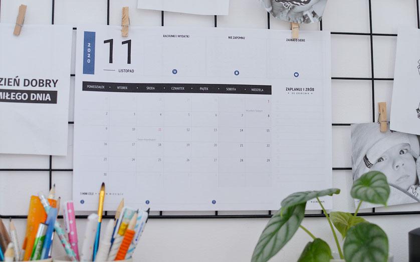 Planer listopad 2020 - do druku za darmo