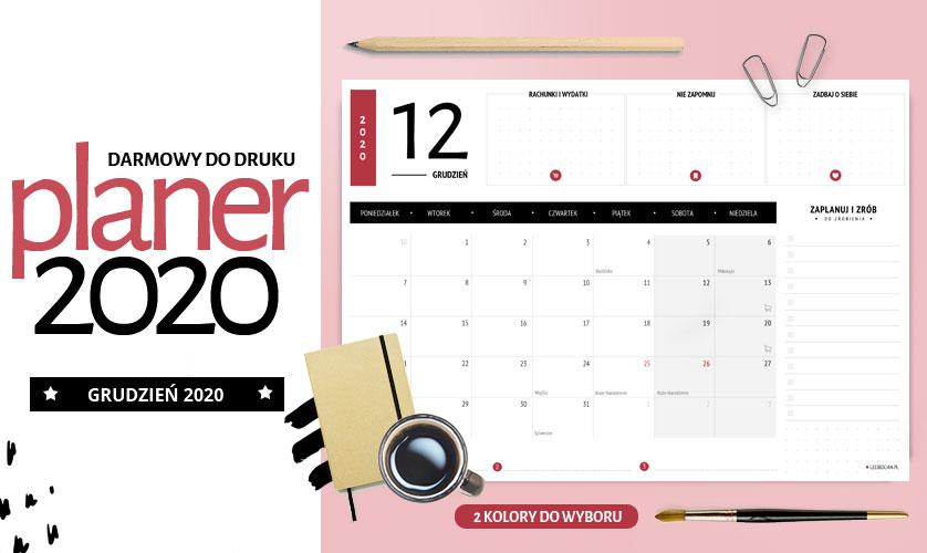 Planer grudzień 2020 - do druku za darmo