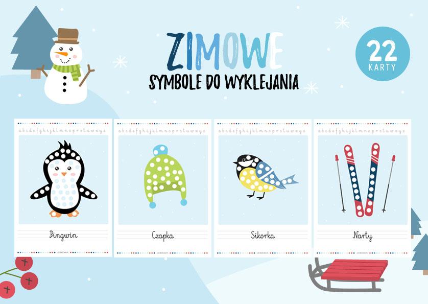 Zimowe symbole do wyklejania