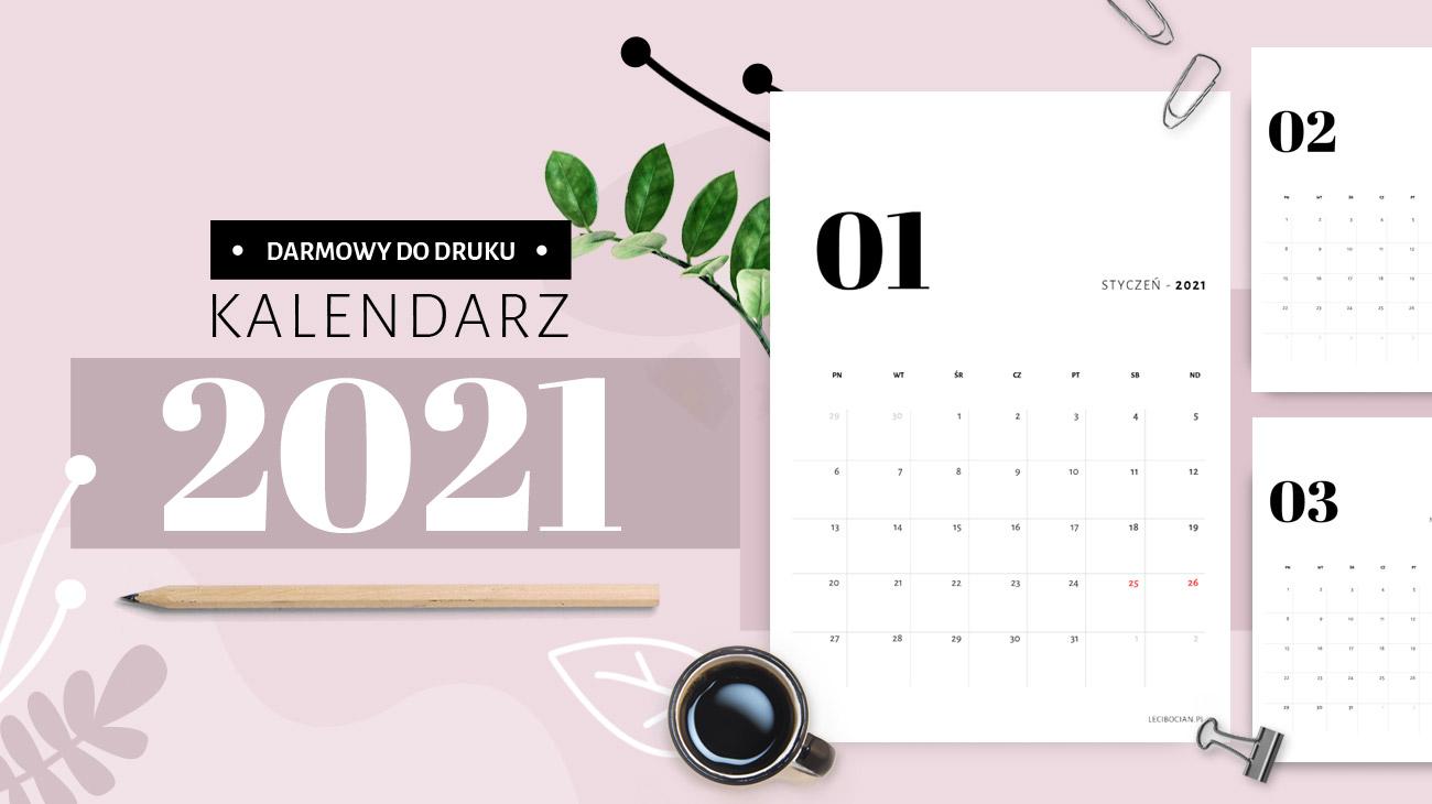 Kalendarz 2021 do druku