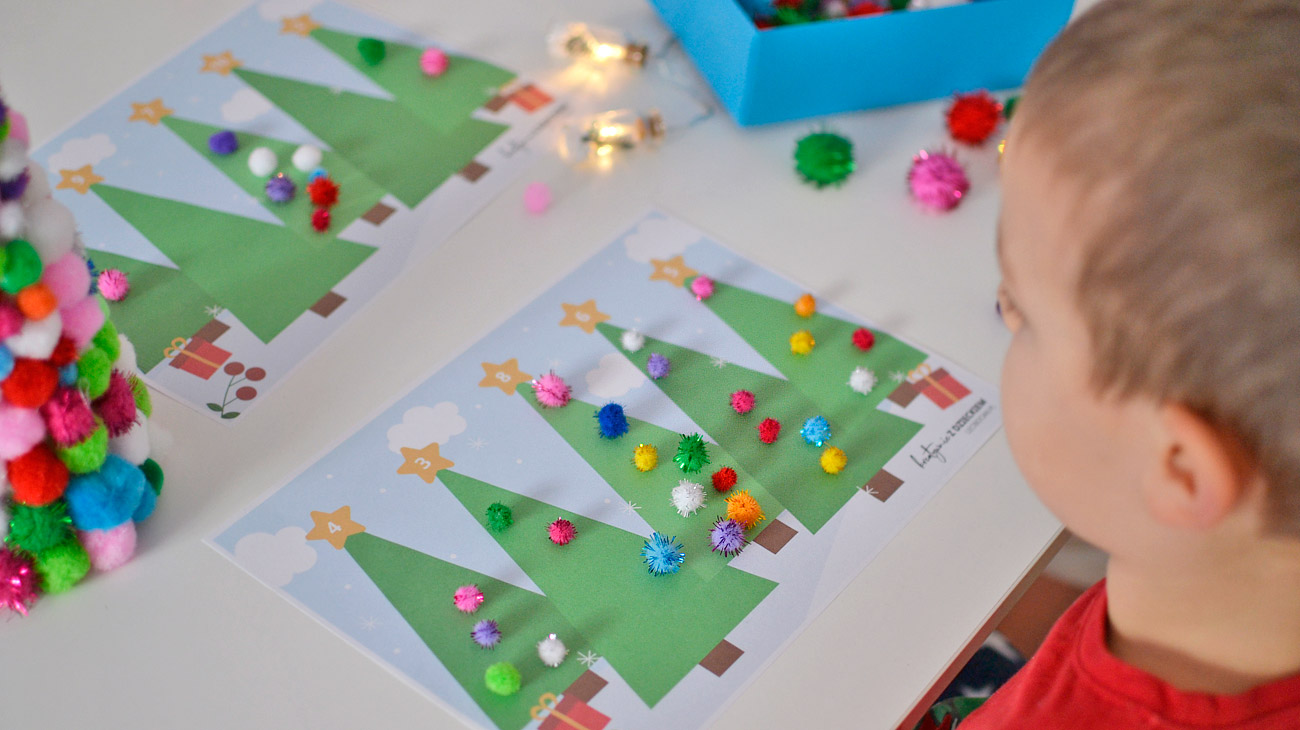 Matematyczne choinki - świąteczna zabawa dla dzieci