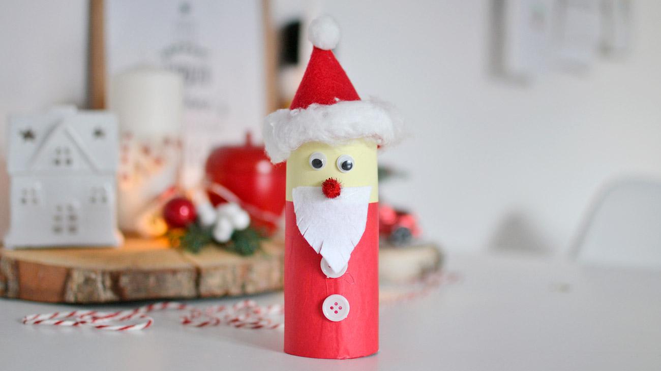 Mikołaj z rolek papieru