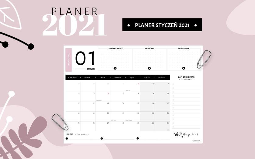 Planer styczeń 2021 - kolorowy