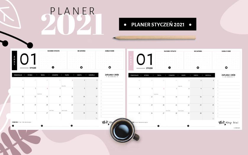 Planer styczeń 2021 - do druku za darmo