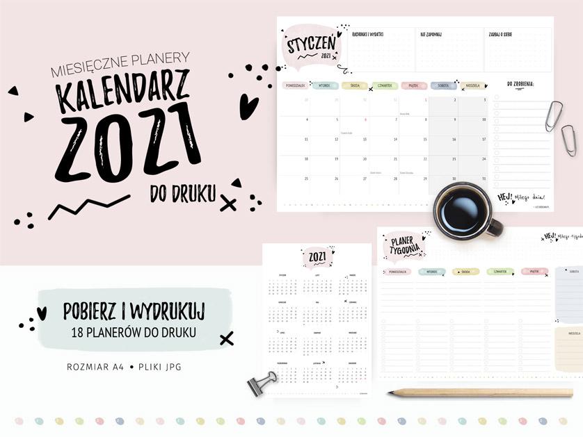 Planery 2021 w pastelowych kolorach!