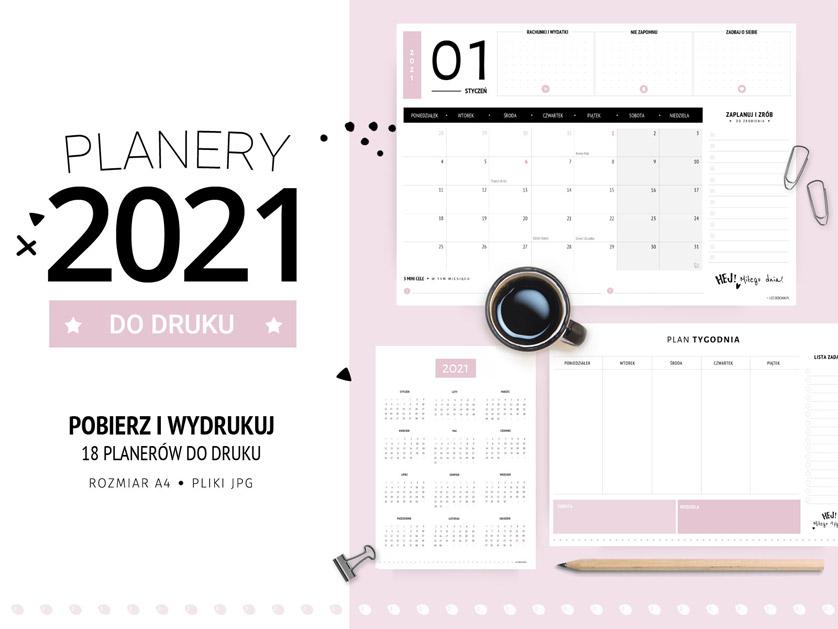 Planery 2021 do druku w 3 kolorach!