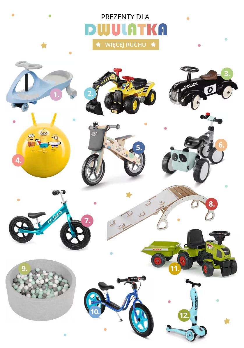 Zabawki dla ruchliwego dwulatka