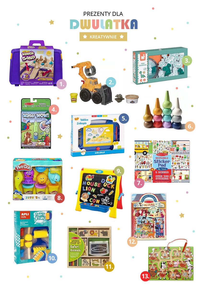 Zabawki dla kreatywnego dwulatka