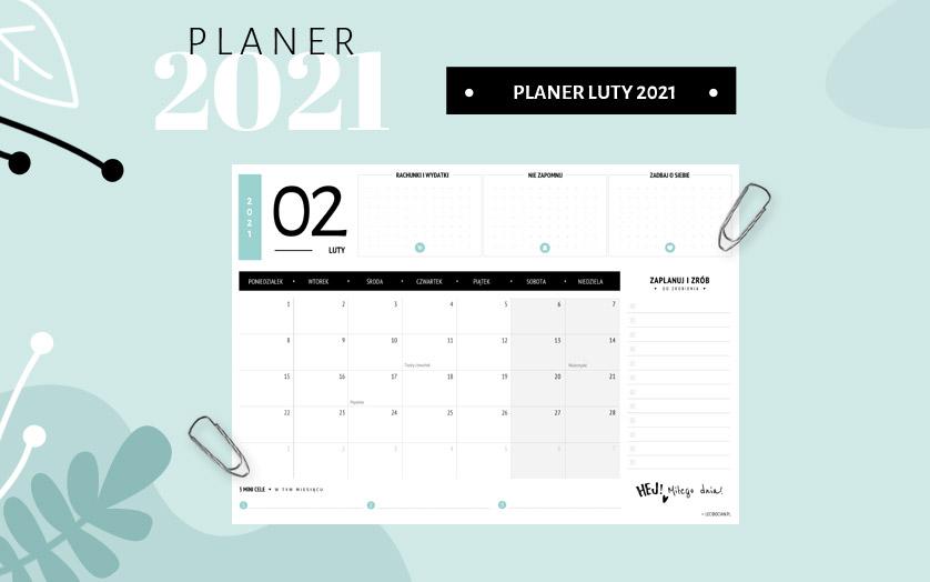 Planer luty 2021 - kolorowy