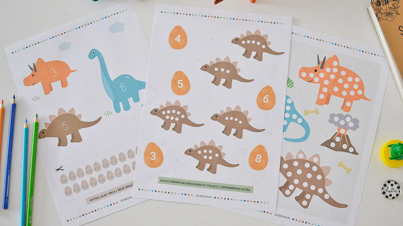 Karty pracy Dinozaury - 25 kart z dinozaurami do druku