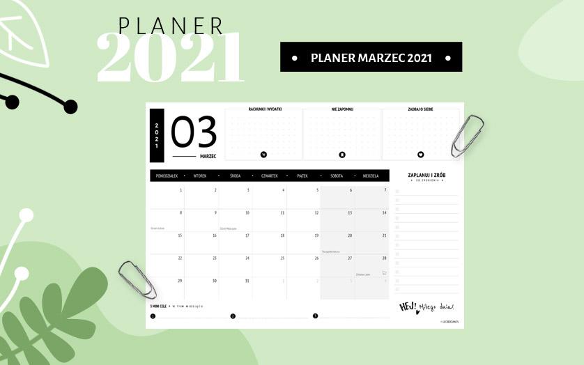 Planer marzec 2021 - czarny