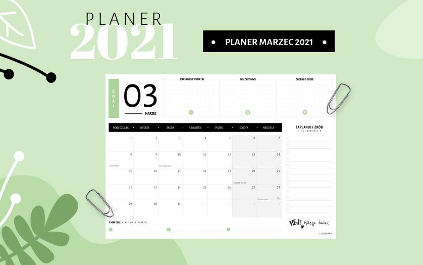 Planer marzec 2021 - kolorowy