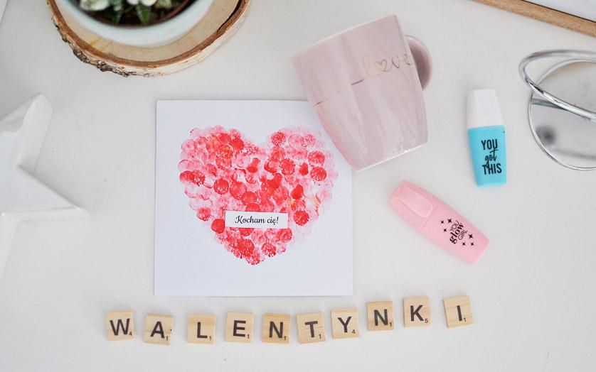 Walentynki prace plastyczne dla dzieci - Kartka zrób to sam