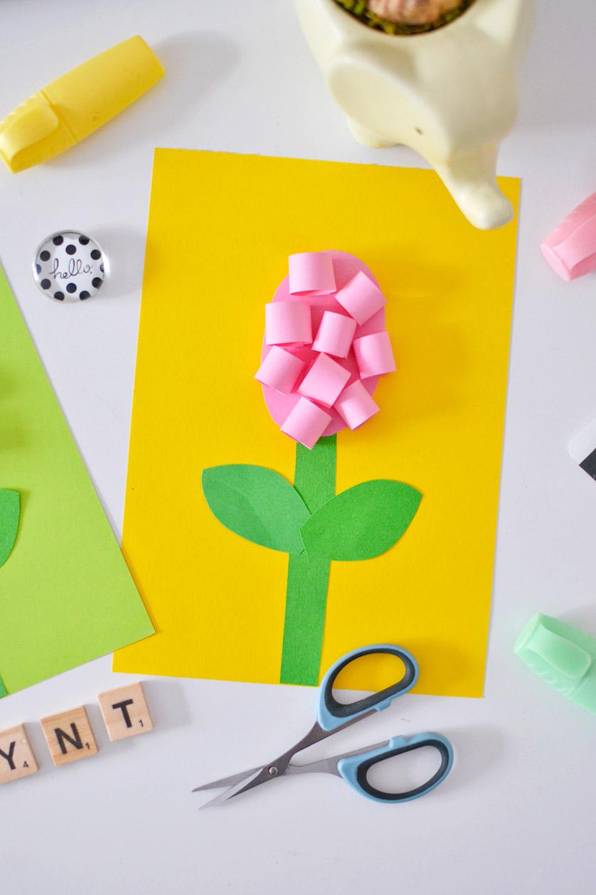 Hiacynty z papieru - wiosenne wycinanki dla dzieci