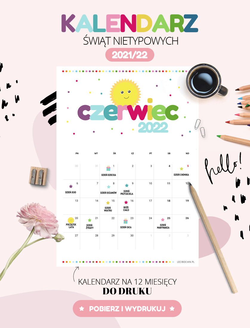 Kalendarz Świąt nietypowych dla dzieci