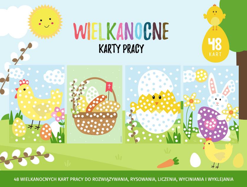 Wielkanocne karty pracy do druku - 48 kart na Wielkanoc