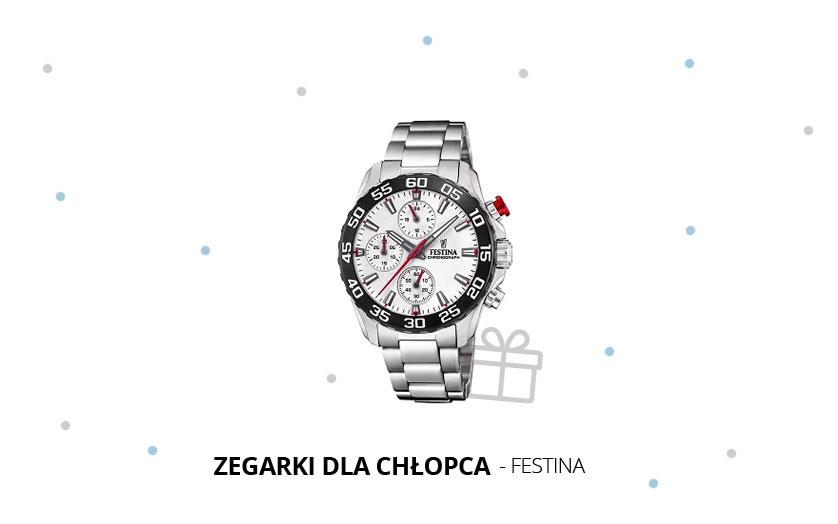 Elegancki zegarek komunijny dla chłopca Festina